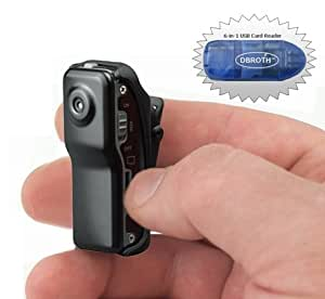 Worlds Smallest High Resolution Mini Video Camcorder (DVR), Incl. 2gb Micro SD Card and Card Reader