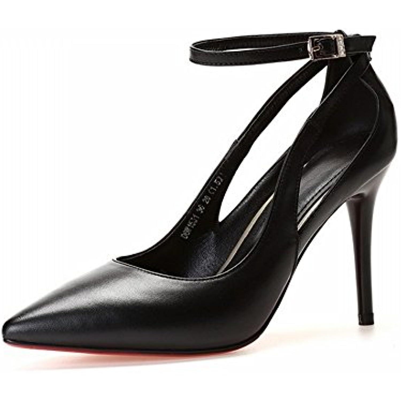 DIDIDD Chaussures Haut de Gamme à Talons Hauts Et Et Et Chevilles avec Une Bouche Peu Profonde Chaussures Simples Pointues... - B07F3NQQ76 - 320bc4