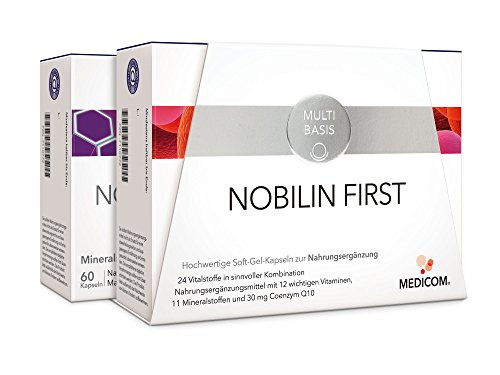 NOBILIN FIRST - 120 Soft-Gel-Kapseln: Nobilin Q10 Multivitamin & Nobilin Mineral Plus