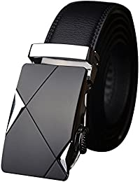 Satyam Kraft Men's Black Pu Leather Belt (42)