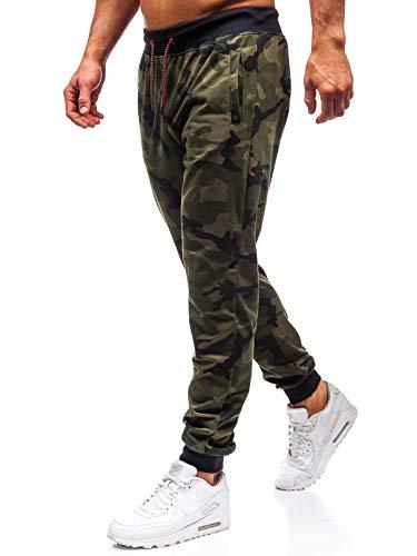 BOLF Hombre Pantalón De Chándal Jogger Diseño Camuflaje