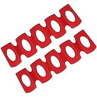 LYTIVAGEN 2Pcs Soporte Botellas Nevera, Estante Para Botellas Silicona Roja, Plegable Plataforma de Nevera Botella De almacenamiento Apilable Para la Bebida, Cerveza, Cola, Vino (30 * 10cm)