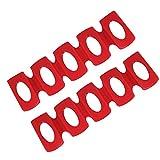 LYTIVAGEN 2Pcs Support Bouteilles Canettes, Porte Bouteille Frigo en Silicone Rangement Rouge Support d'empilage Antidérapant pour Boissons, Bières, Cola, Vin (31*9,5cm)