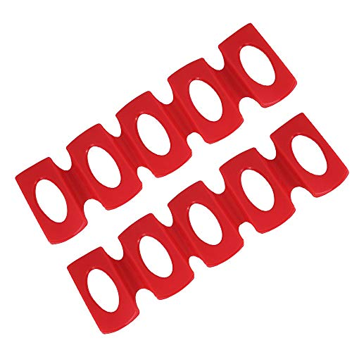 LYTIVAGEN 2 Stück Silikon Flaschenhalter Rote Flaschenablage Flaschenregal Stapelhilfe für...