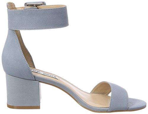 Steve Madden Indigo Mid Heel, Sandales Bride Cheville Femme Blau (Blue)