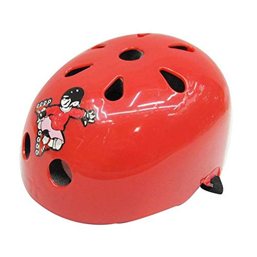 Mouchao Nette Form Kinder Roller Skating Helm Für Reiten Roller Outdoor Sports Rot