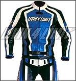 4LIMIT Sports Motorrad Lederkombi LAGUNA SECA Zweiteiler, Blau-Schwarz-Weiß, Größe XL