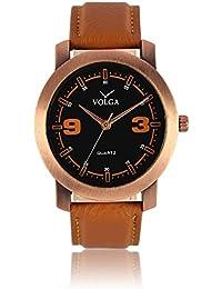 Xurious Enterprise Round Dial Analogue Black Dial Brown Leather Strape Fashion Wrist Watch For Men & Boys | XE_VL... - B07G18WNGC