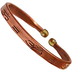 Sullery Om Brown Copper Round Kada For Men And Women