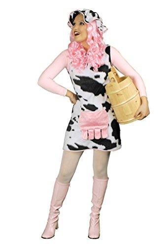 Karneval Kostüm Kuh Kleid Dame Plüsch Kostüm Karneval Tier Damenkostüm Größe 36/38 - Plüsch Kuh Kostüm