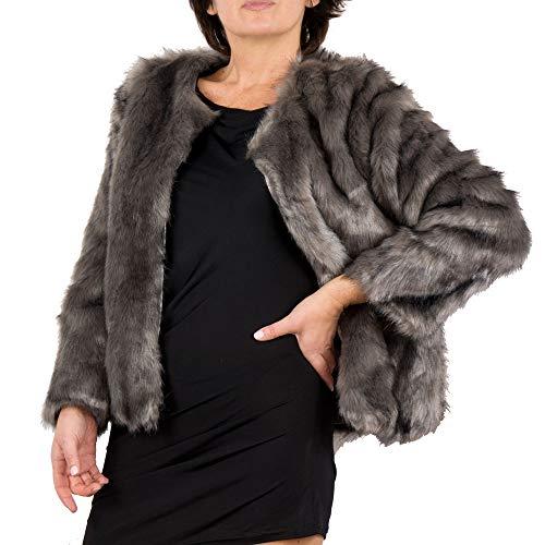 online store a3ec4 e9a8c pelliccia sintetica fake fur cappotto peloso inverno donna