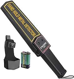UNIROI Escáner de Seguridad Portátil con Batería de 9V Funda de Cinturón,Sensibilida.