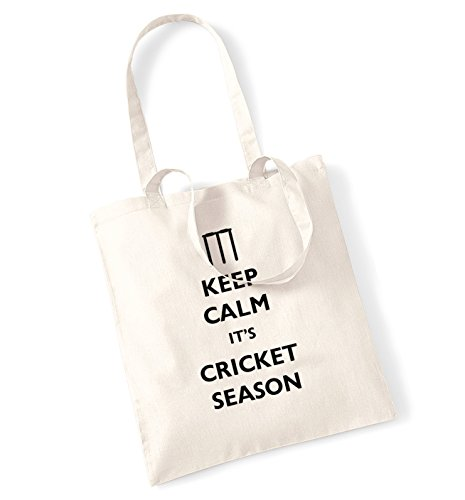 Keep calm it's cricket season tote bag