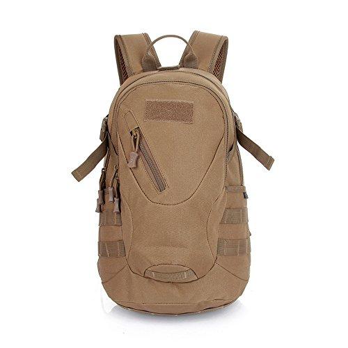 Contever® Zaino Borsa a Tracolla Multifunzione Militare Borsa di 900D Oxford Tela Shoulder Bag per le Attività all'aperto Uso Quotidiano(Marrone)