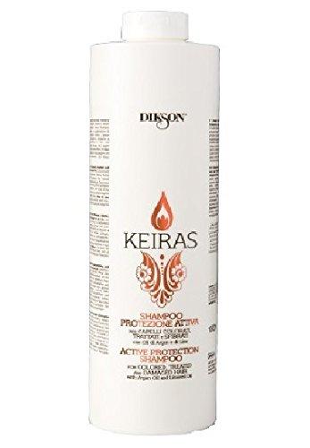 DIKSON KEIRAS PROTEZIONE ATTIVA SHAMPOO shampooing pour cheveux colorés avec argan et de lin 1000 ml