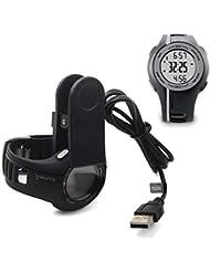 Garmin Forerunner 110 210 Approach S1 Chargeur (3.3ft / 100cm), TUSITA Câble de recharge Chargeur USB Clip de prise pour Garmin GPS Watch