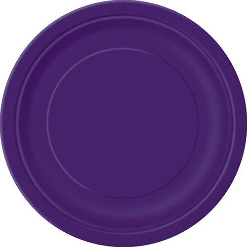 Unique Party - 33044 - Paquet de 20 Assiettes en Carton - 18 cm - Violet Intense