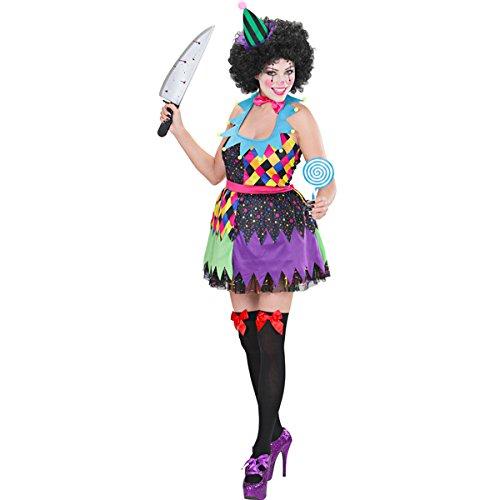 Clown Evil Kostüm Sexy Horror Costume Halloween Movie Scary Clownkostüm Böses (Halloween-scary Songs Movie)
