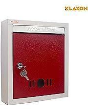 Klaxon High Grade Metal Mail Box (Red)-Small