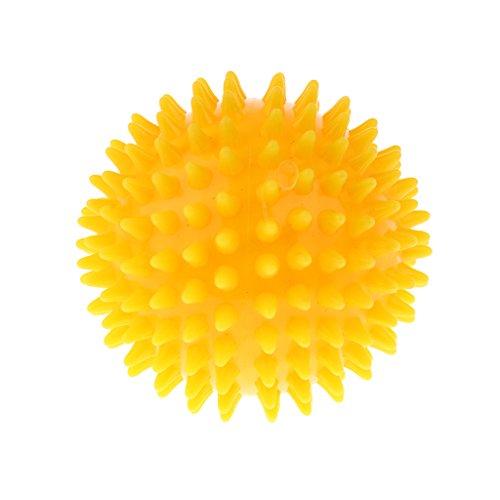 Homyl Yoga Ball Igelball Massageball Massage Gummi Stachelball Reflexball - Gelb