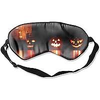Schlafmaske für Halloween, gruselige Kürbis-Augenmaske – leicht mit verstellbarem Riemen – blockiert das Licht... preisvergleich bei billige-tabletten.eu