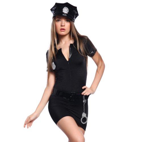Gr.L Karnevalskostuem Polizistin Damen Kostuem Polizei Cop Polizist Sexy Uniform Fasching Karneval Verkleidung (Cool Sexy Kostüm)