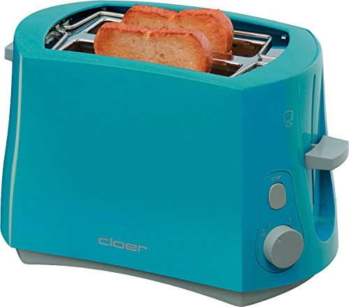 Cloer 3317-3 Toaster in blau, Kunststoff
