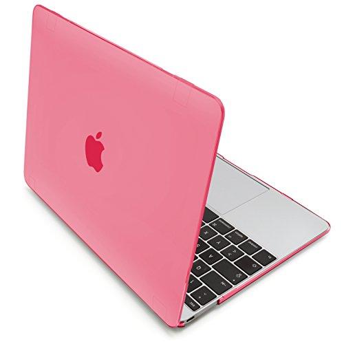 MyGadget Hülle Hard Case [Matt] - für Apple MacBook 12 Zoll Retina (ab 2015) mit USB C (A1534) - Schutzhülle Hartschalen Tasche Plastik Cover in Rosa
