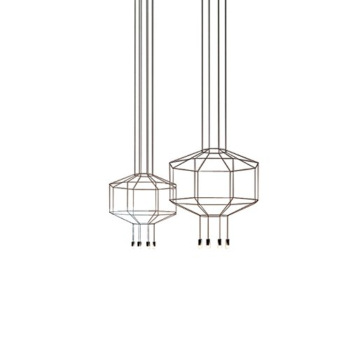 Wireflow 0299 LED - Lampe de suspension noir/laqué/Ø x H: 250 x 150cm/dimmable/3922 lm - 2700 K