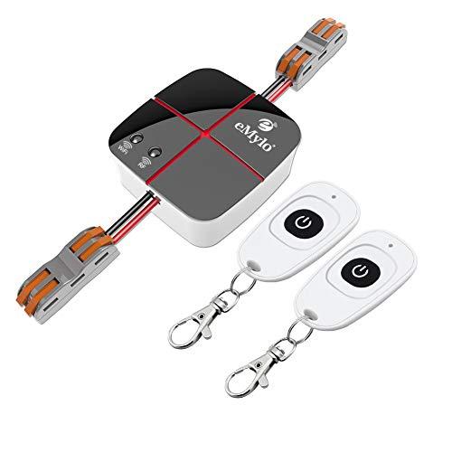 eMylo Smart Schalter Wifi Fernbedienung Wireless Timer Lichtschalter 5-24V RF 1 Kanäle Relais kompatibel mit Amazon Alexa und Google über IOS Android -