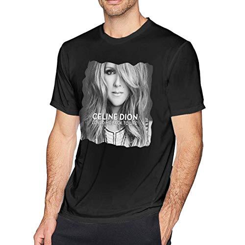 Welikee T-Shirt, Manica Corta, Celine Dion Men's Soft Tee Black