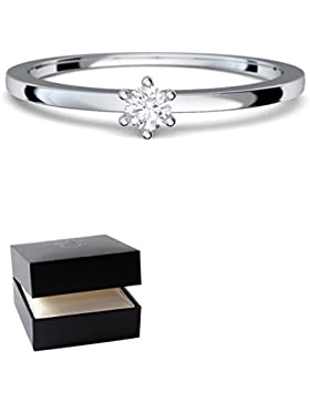 Verlobungsringe Weißgold Ring 585 Diamant Ring 0,05 Carat H/si **sehr gute Qualität** + inkl. Luxusetui + Diamantring...