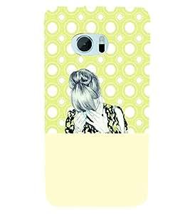 PrintVisa Stylish Cool Girl Sad 3D Hard Polycarbonate Designer Back Case Cover for HTC One M10