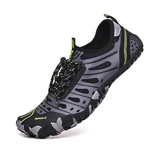 REALIKE Herren Strandschuhe Laufschuhe Wasserschuhe Atmungsaktiv SportschuheOutdoor Turnschuhe Leichte Sneaker Trekking Fitness Gym Leichtes Bequem Schuhe 39-46 EU