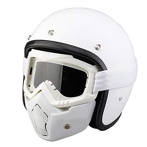 SKINGO metà Aperto Faccia Casco del Motociclo con Occhialoni Moto di Protezione Visiera Sciarpa del Motociclista Motorino Touring del Casco per Harley