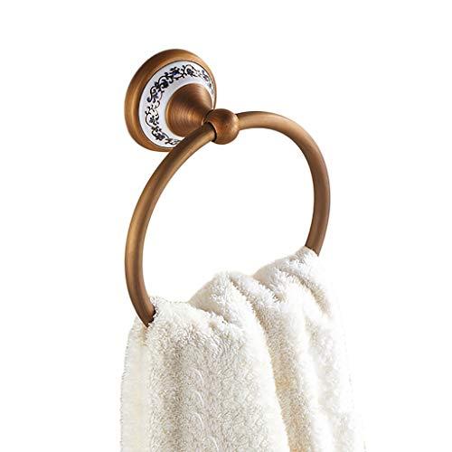Lyj-towel porta asciugamani ad anello portasciugamani in rame blu e bianco appeso ad anello for appendere gli asciugamani