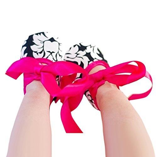 Kleinkind Kleinkind Babyschuhe Weichen Sohlen Rutschfest Stieg Seidenband Schuhe Für 0-18 Monate - Farbe2, 0-6 Monate