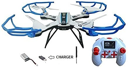 SUPER TOY 2.4GHZ RC Drone Quadcopter Flying Toy Without Camera ( Multi Colour )