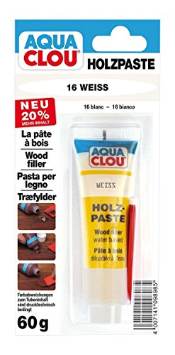 Clou Holzpaste Zum Reparieren und Auskitten 60 g, Weiß