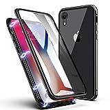 Coque iPhone XR, ZHIKE Coque Adsorption Magnétique Avant et Arrière Verre Trempé...