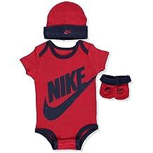 Nike bebé niños '3piezas Canastilla Set, Rojo (Gym Red)