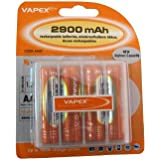 Digital Additions Vapex AA NiMH 1.2 V 2900 mAh Batteries Pack of 4