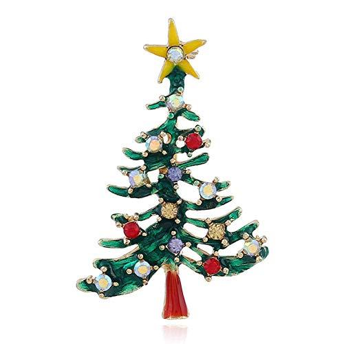 Sweet&rro17 Weihnachten Brosche Pin Strass Vintage Broschennadeln Bekleidungs Schmuck, Xmas Geschenk(Schneeflocke)