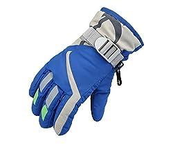 Ski Wasserdichte Kinder Handschuhe Winter Warm Outdoor Verdickung Handschuhe .Saoirse, Königsblau, S