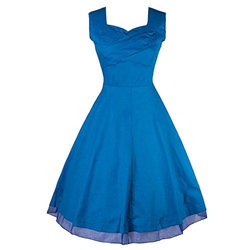 MNBS - Robe - Trapèze - Sans Manche - Femme Bleu