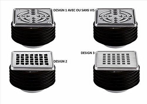 Kit Gitter/Rahmen mit Dichtung in Akkordeon und integriertem Siphon Kerdi Drain Basis-Kit Gitter/Rahmen aus Edelstahl Design 1-10x 10cm-mit Schrauben - Kerdi-drain