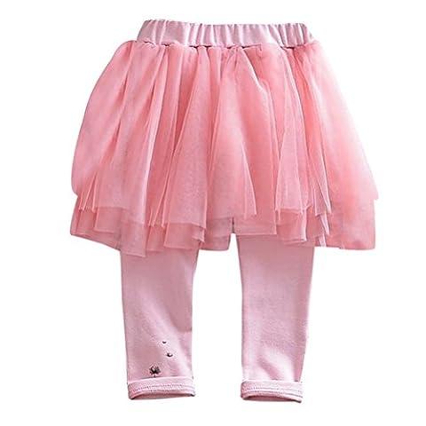 Zhhlaixing Fashion Little Girls Winter Warm Leggings Pants with Tutu Tulle Skirt