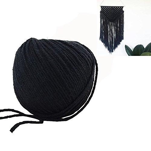 HuBei - Colgador macramé algodón natural colorido