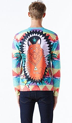 Pizoff Unisex Hip Hop Sweatshirts mit 3D Digital Print 3D Muster Y1759-A8