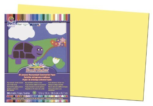 Sunworks Bau Papier, 30,5x 45,7cm gelb, 50Blatt Sunworks